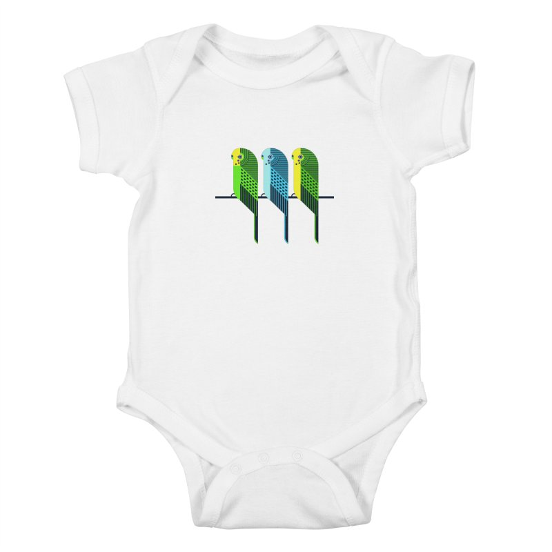 Parakeets Kids Baby Bodysuit by scottpartridge's Artist Shop