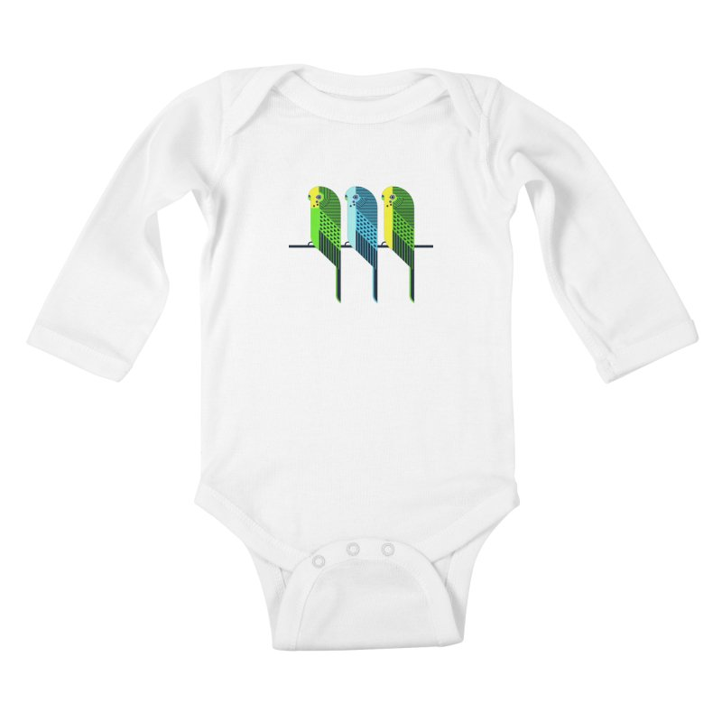 Parakeets Kids Baby Longsleeve Bodysuit by scottpartridge's Artist Shop