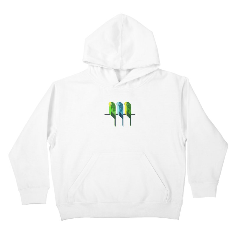 Parakeets Kids Pullover Hoody by scottpartridge's Artist Shop