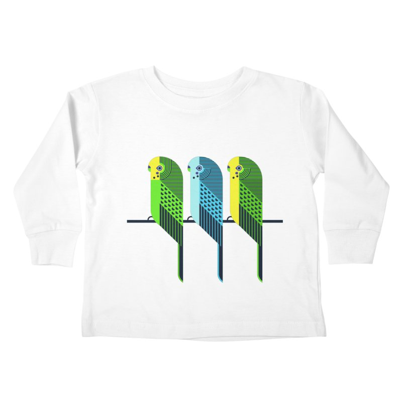 Parakeets Kids Toddler Longsleeve T-Shirt by scottpartridge's Artist Shop