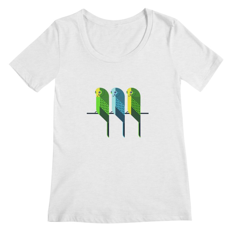 Parakeets Women's Regular Scoop Neck by scottpartridge's Artist Shop