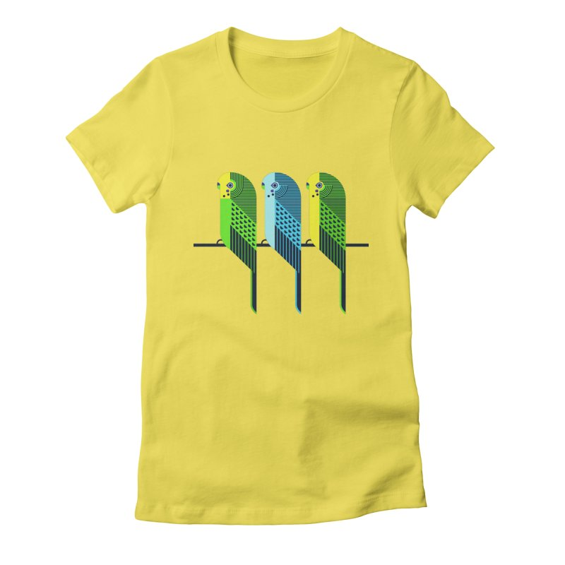 Parakeets Women's T-Shirt by scottpartridge's Artist Shop