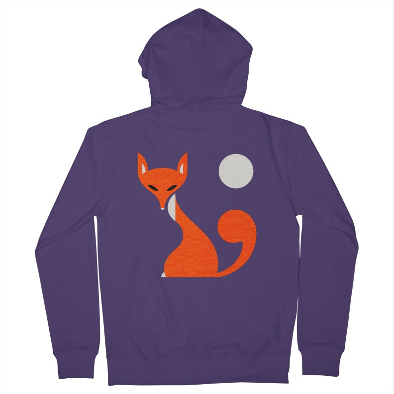 Fox and Moon Women's Zip-Up Hoody by scottpartridge's Artist Shop
