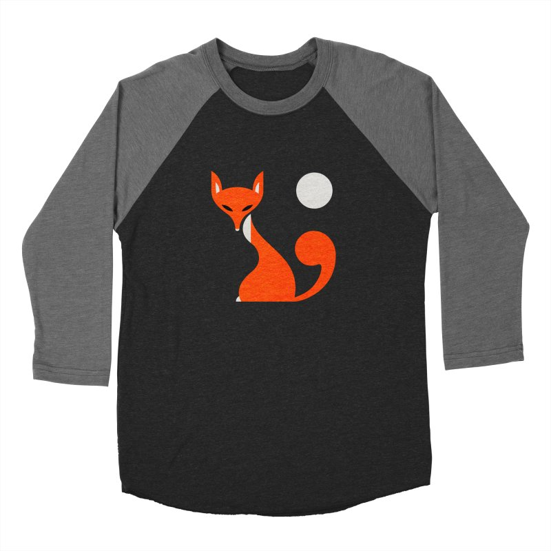 Fox and Moon Men's Baseball Triblend Longsleeve T-Shirt by scottpartridge's Artist Shop