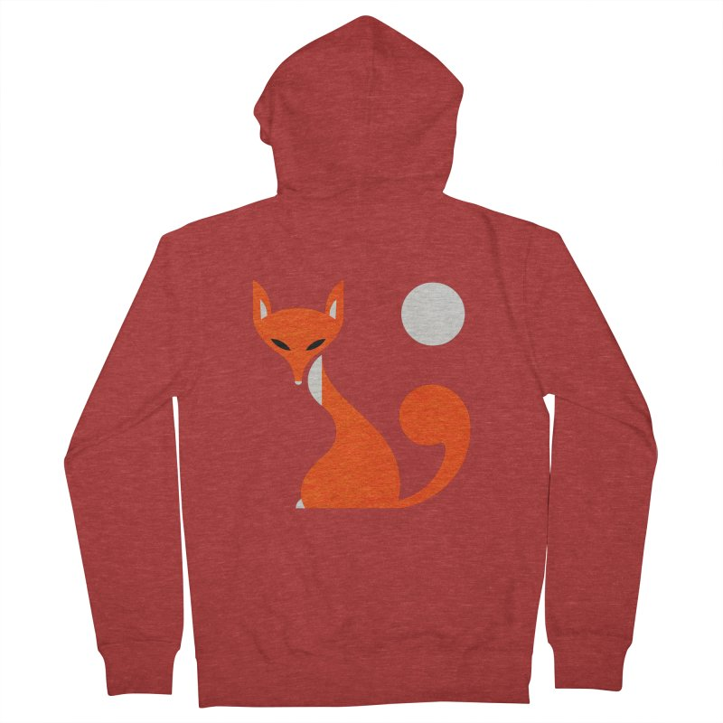Fox and Moon Women's French Terry Zip-Up Hoody by scottpartridge's Artist Shop
