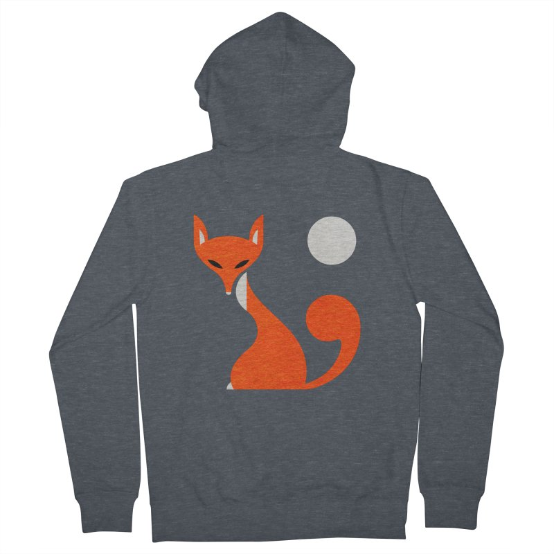 Fox and Moon Men's French Terry Zip-Up Hoody by scottpartridge's Artist Shop