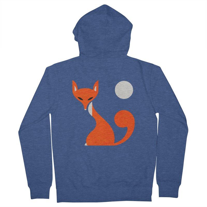 Fox and Moon Men's Zip-Up Hoody by scottpartridge's Artist Shop
