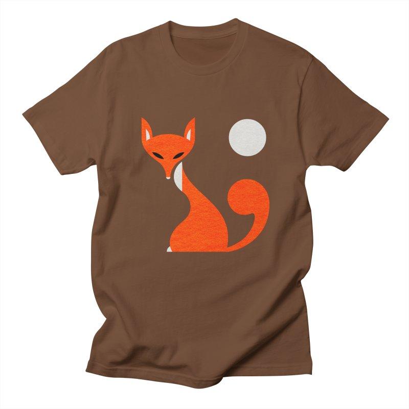 Fox and Moon Men's T-shirt by scottpartridge's Artist Shop