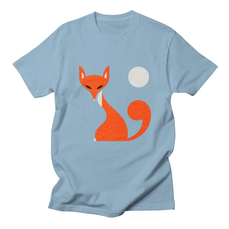 Fox and Moon Men's Regular T-Shirt by scottpartridge's Artist Shop