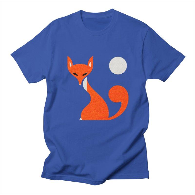 Fox and Moon Men's Regular T-Shirt by scottpartridge's Artist Shop