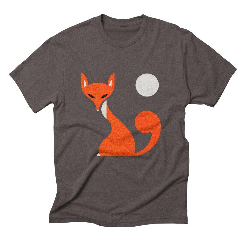 Fox and Moon Men's Triblend T-Shirt by scottpartridge's Artist Shop