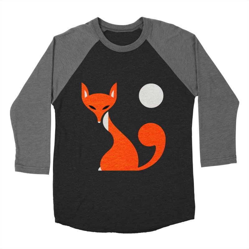 Fox and Moon Women's Baseball Triblend T-Shirt by scottpartridge's Artist Shop