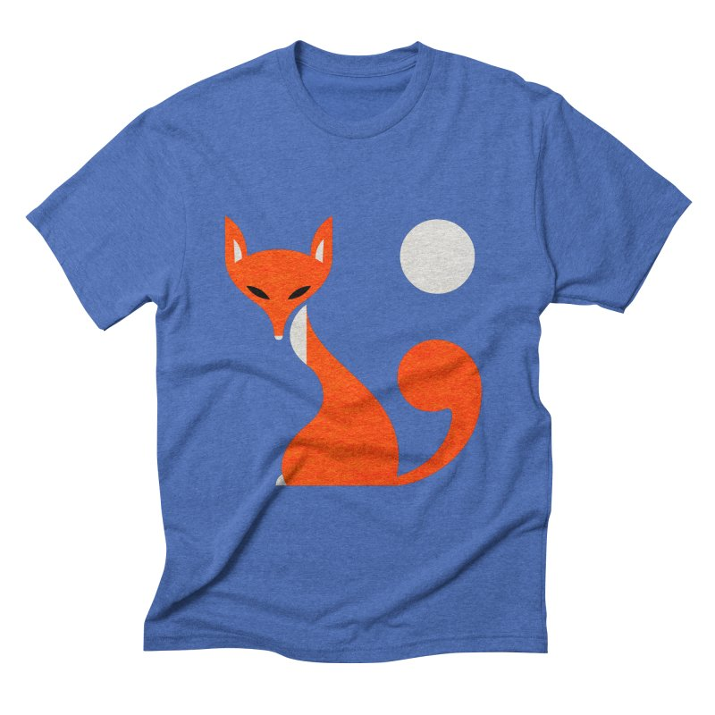 Fox and Moon Men's Triblend T-shirt by scottpartridge's Artist Shop