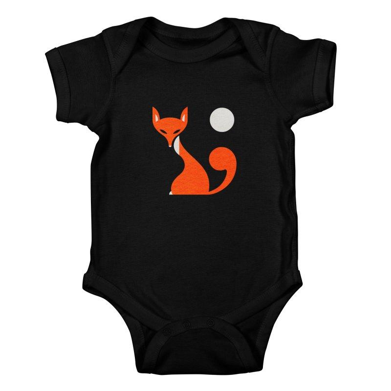Fox and Moon Kids Baby Bodysuit by scottpartridge's Artist Shop