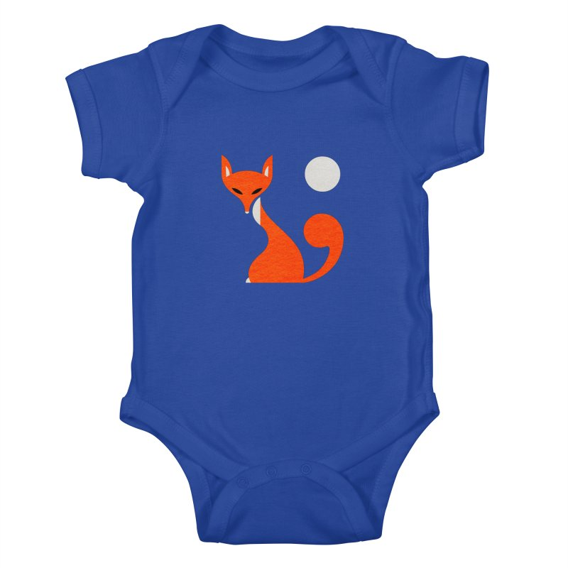 Fox and Moon Kids Baby Bodysuit by scottpartridge's Artist Shop