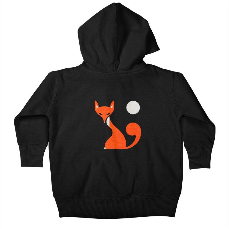 Fox and Moon Kids Baby Zip-Up Hoody by scottpartridge's Artist Shop