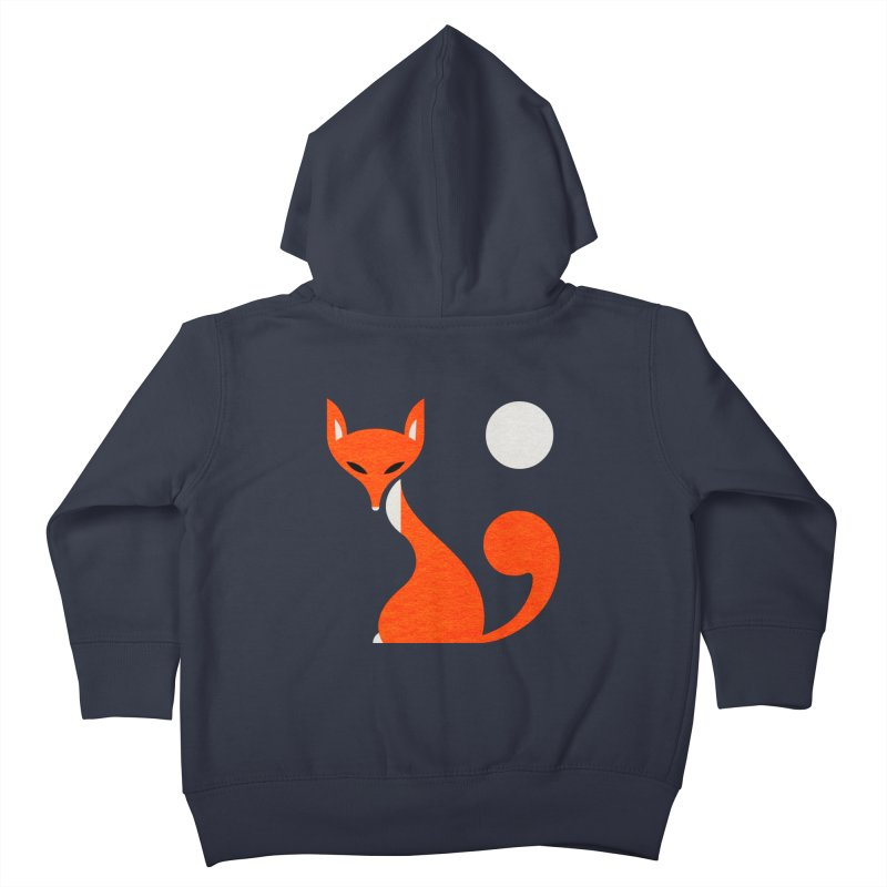 Fox and Moon Kids Toddler Zip-Up Hoody by scottpartridge's Artist Shop