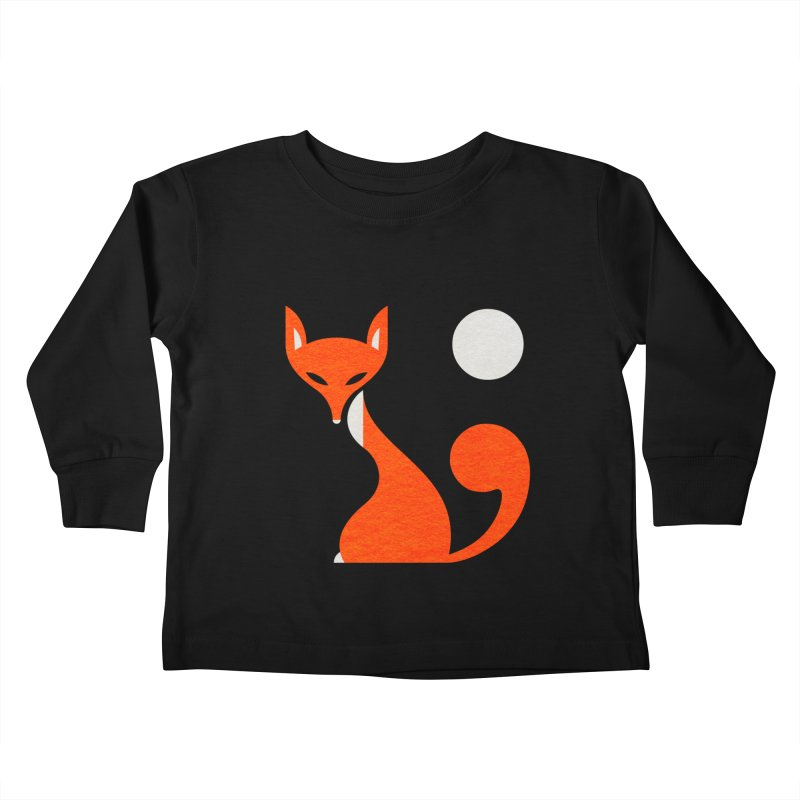 Fox and Moon Kids Toddler Longsleeve T-Shirt by scottpartridge's Artist Shop