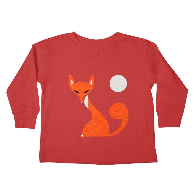 Fox and Moon Kids Toddler Longsleeve T-Shirt by scottpartridge's Artist Shop