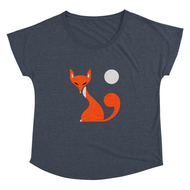 Fox and Moon Women's Dolman by scottpartridge's Artist Shop