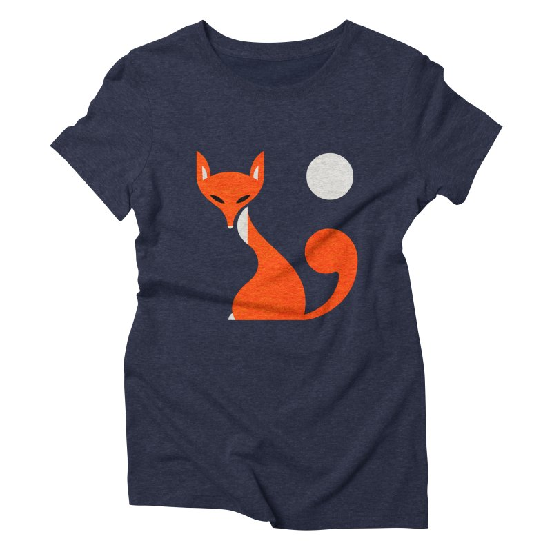Fox and Moon Women's Triblend T-shirt by scottpartridge's Artist Shop