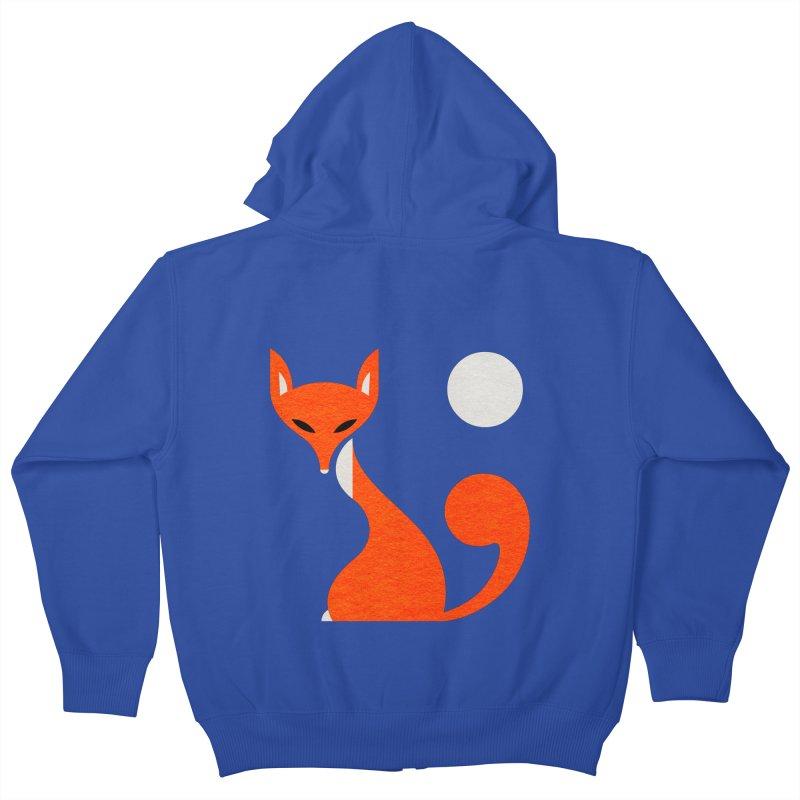 Fox and Moon Kids Zip-Up Hoody by scottpartridge's Artist Shop
