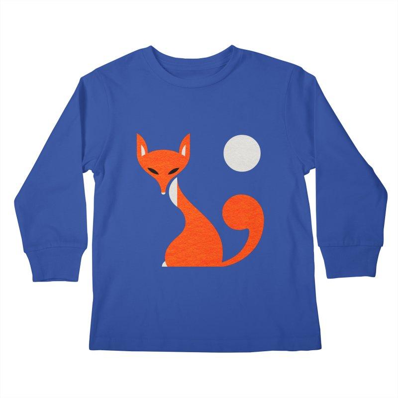Fox and Moon Kids Longsleeve T-Shirt by scottpartridge's Artist Shop