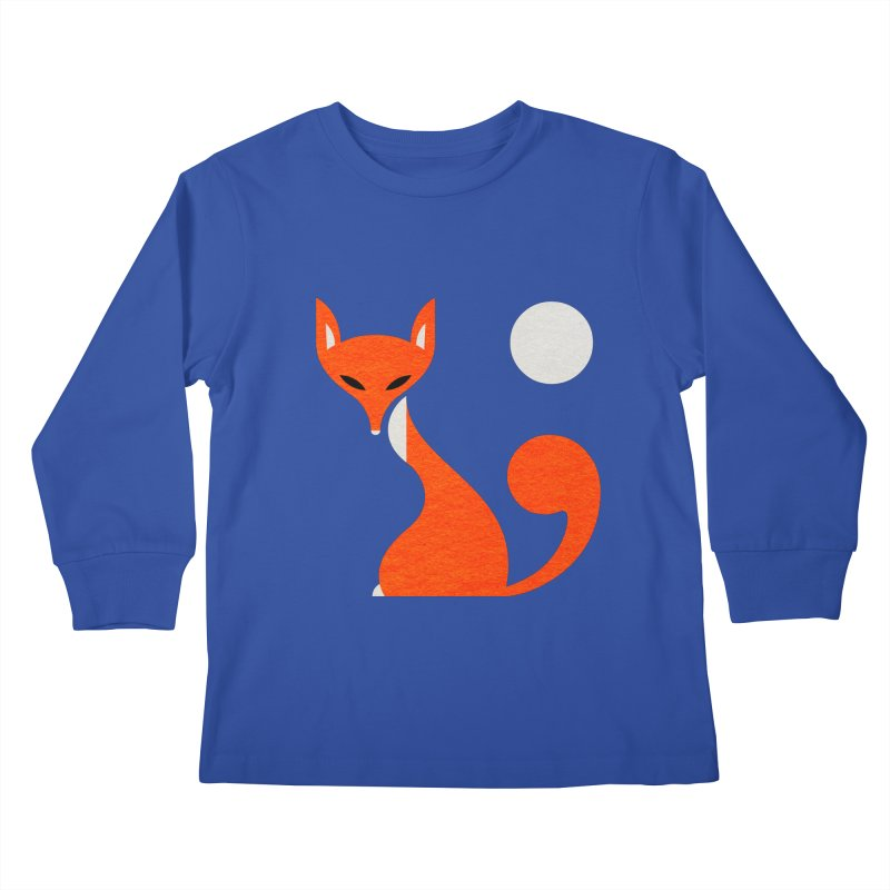 Fox and Moon Kids Longsleeve T-Shirt by scottpartridge's Artist Shop