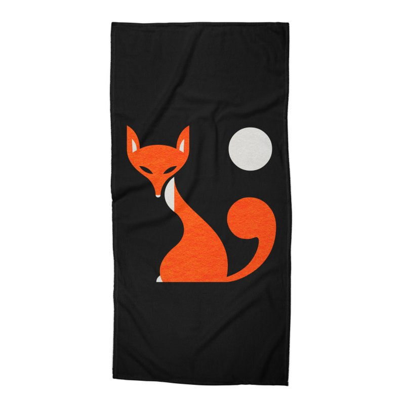 Fox and Moon Accessories Beach Towel by scottpartridge's Artist Shop
