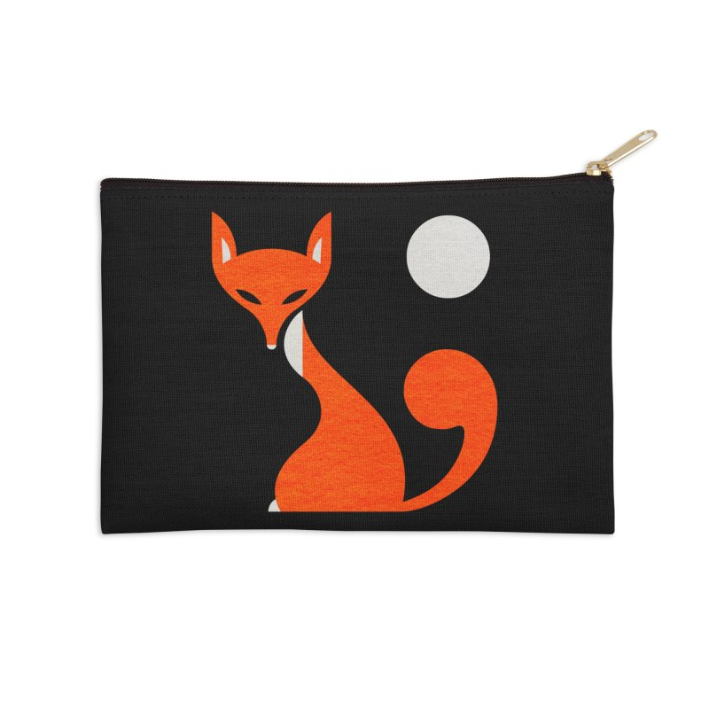 Fox and Moon Accessories Zip Pouch by scottpartridge's Artist Shop
