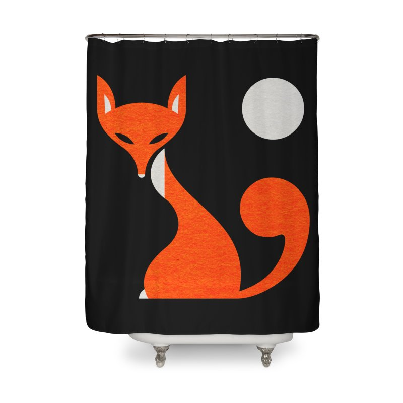 Fox and Moon Home Shower Curtain by scottpartridge's Artist Shop