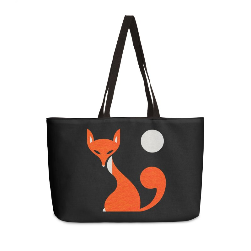 Fox and Moon Accessories Weekender Bag Bag by scottpartridge's Artist Shop