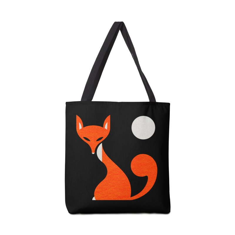 Fox and Moon Accessories Bag by scottpartridge's Artist Shop
