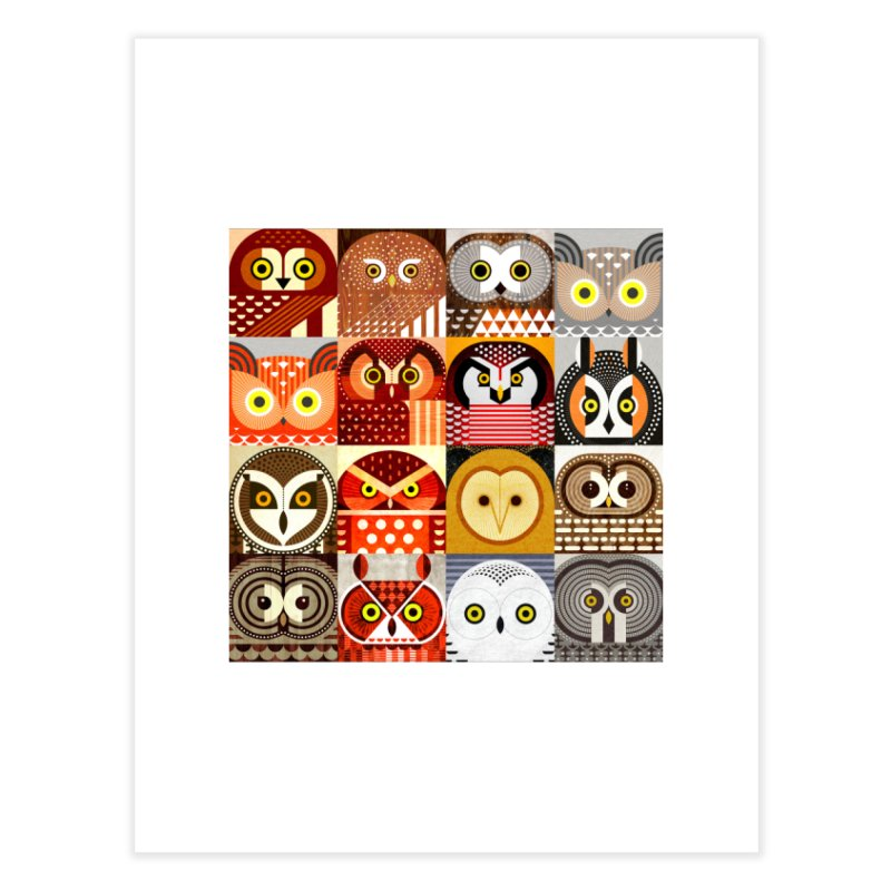 North American Owls Home Fine Art Print by scottpartridge's Artist Shop