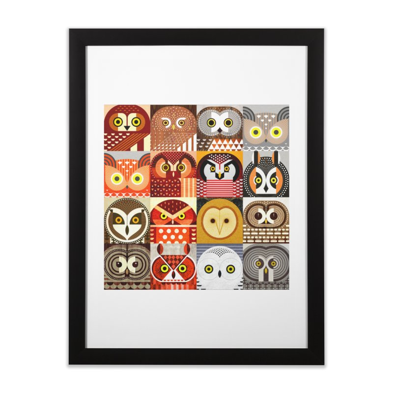 North American Owls Home Framed Fine Art Print by scottpartridge's Artist Shop