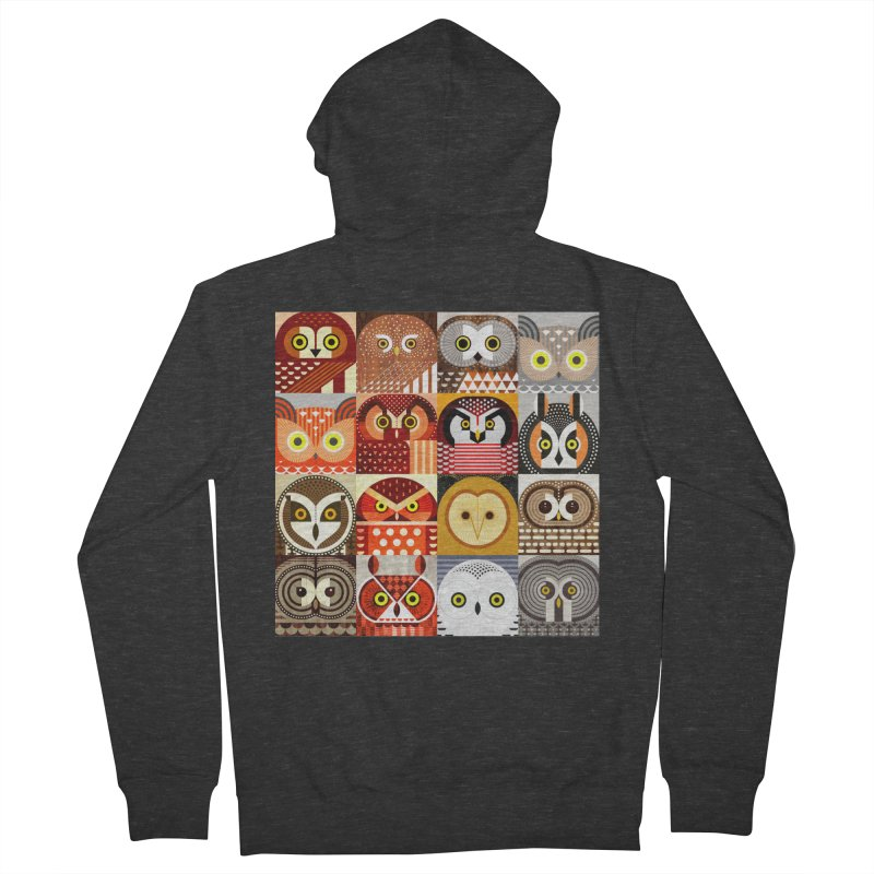 North American Owls Women's Zip-Up Hoody by scottpartridge's Artist Shop