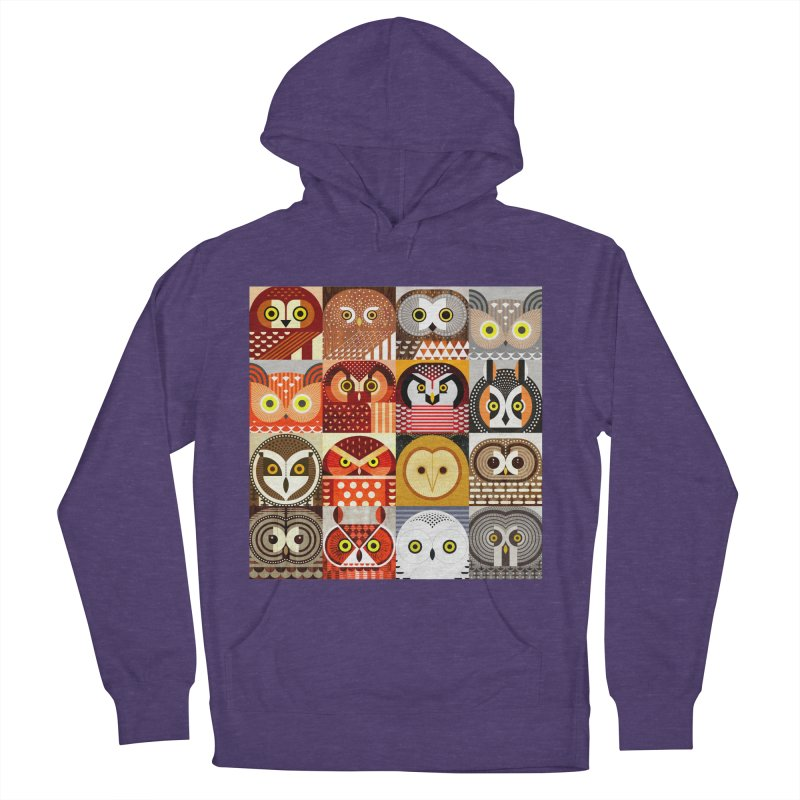 North American Owls Women's French Terry Pullover Hoody by scottpartridge's Artist Shop