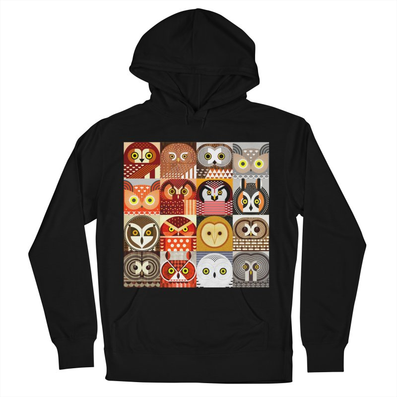North American Owls Men's French Terry Pullover Hoody by scottpartridge's Artist Shop