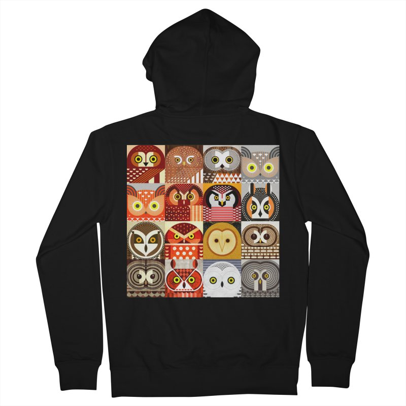 North American Owls Women's French Terry Zip-Up Hoody by scottpartridge's Artist Shop
