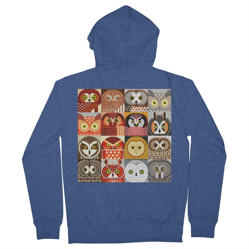 North American Owls Men's Zip-Up Hoody by scottpartridge's Artist Shop