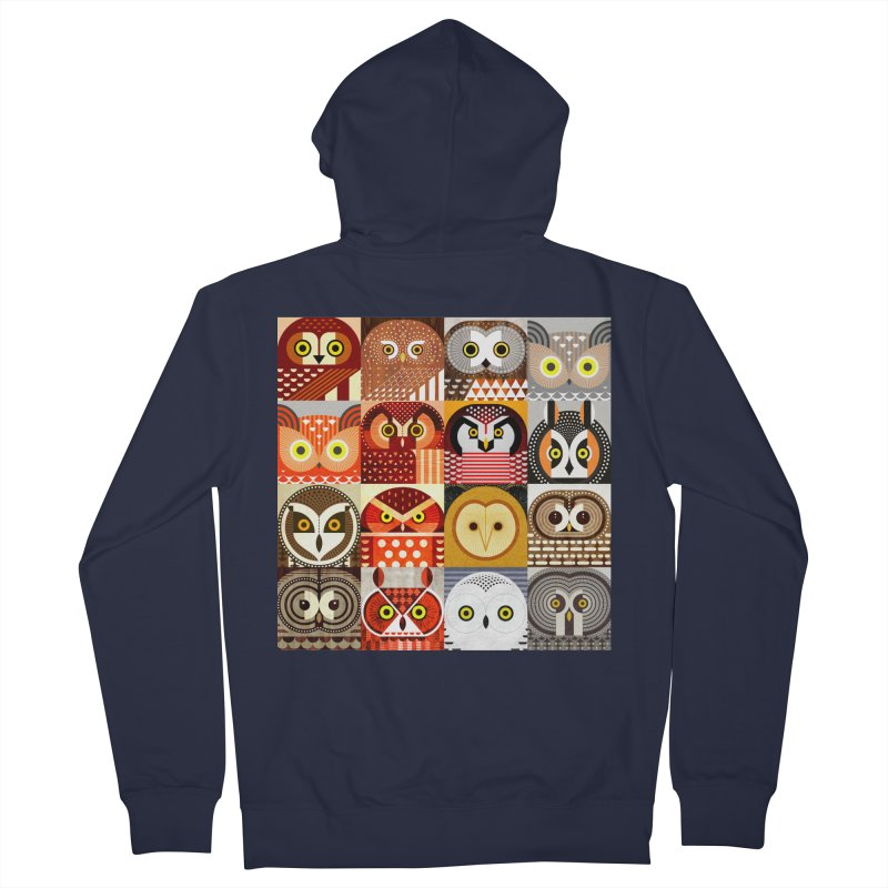 North American Owls Men's French Terry Zip-Up Hoody by scottpartridge's Artist Shop