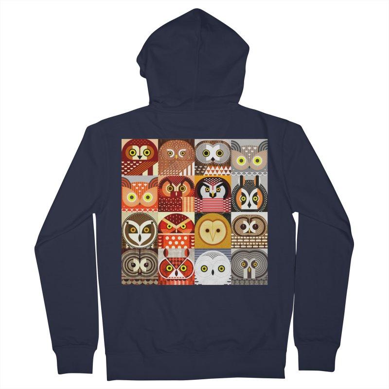 North American Owls Men's Zip-Up Hoody by scottpartridge's Artist Shop
