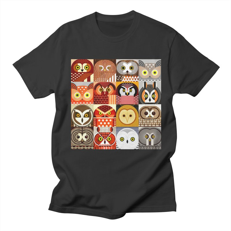 North American Owls Men's Regular T-Shirt by scottpartridge's Artist Shop