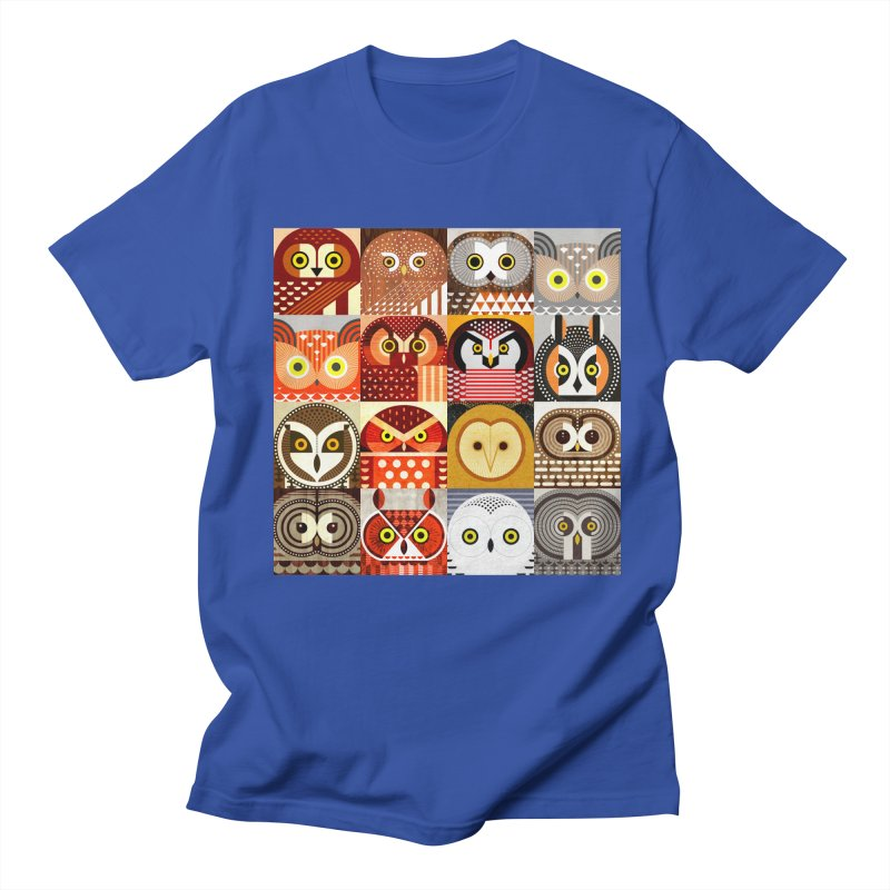 North American Owls Men's Regular T-Shirt by scottpartridge's Artist Shop