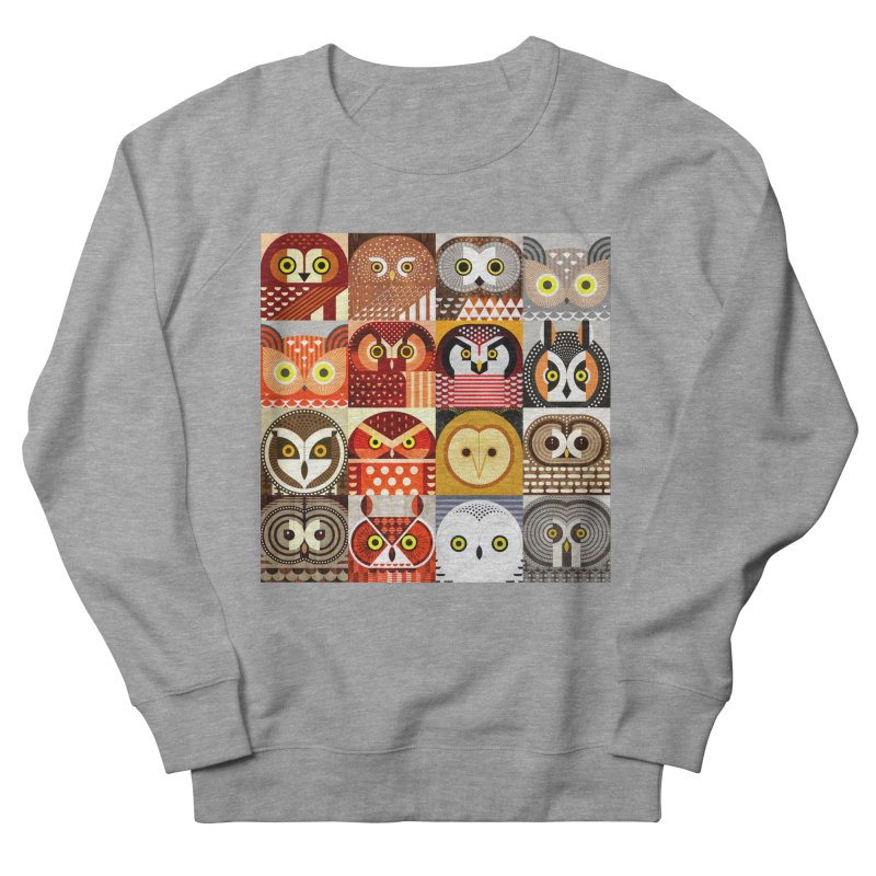North American Owls Women's French Terry Sweatshirt by scottpartridge's Artist Shop