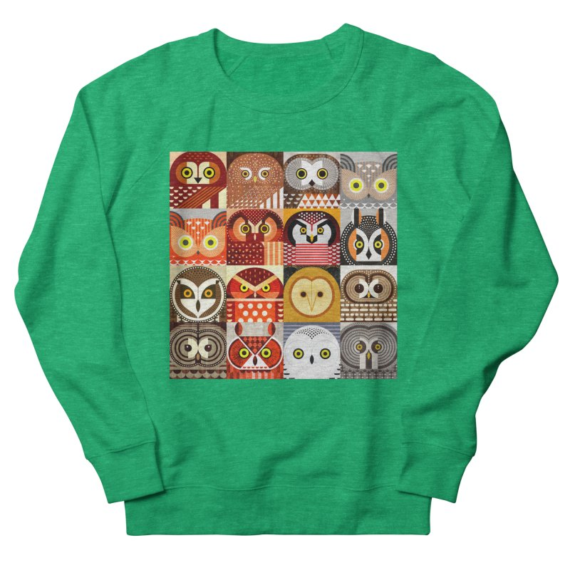 North American Owls Men's French Terry Sweatshirt by scottpartridge's Artist Shop
