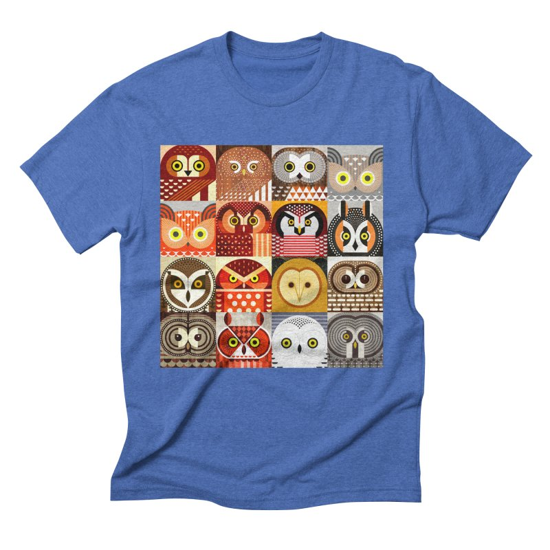 North American Owls Men's Triblend T-Shirt by scottpartridge's Artist Shop