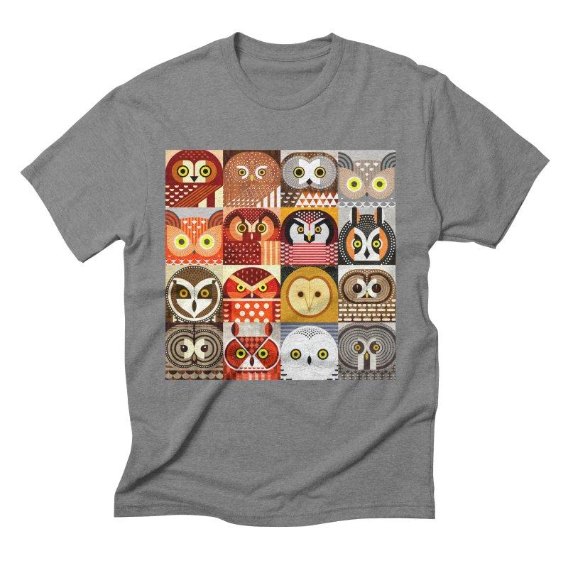 North American Owls Men's Triblend T-Shirt by scottpartridge's Artist Shop