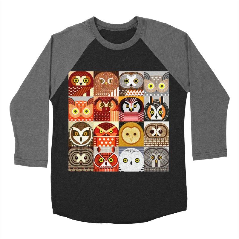 North American Owls Men's Baseball Triblend Longsleeve T-Shirt by scottpartridge's Artist Shop
