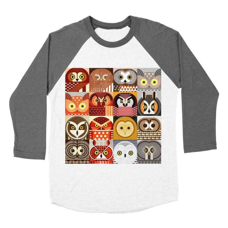 North American Owls Men's Baseball Triblend T-Shirt by scottpartridge's Artist Shop